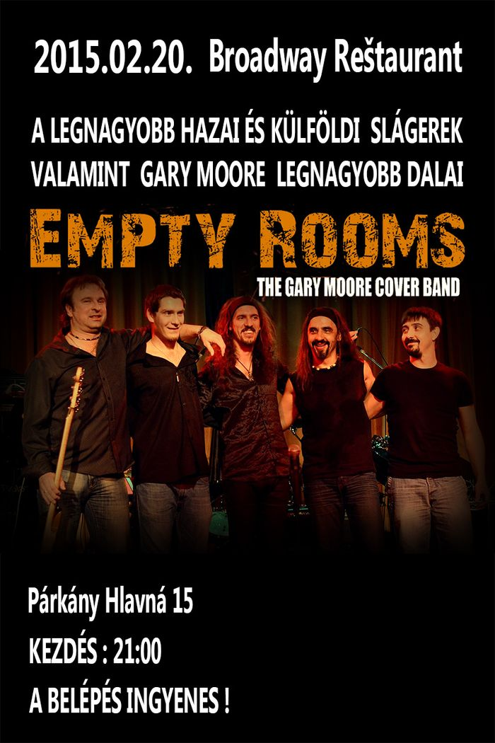 Empty Rooms - Gary Moore Tribute zenekar