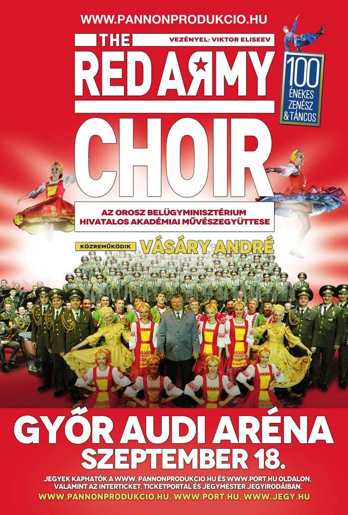 The Red Army Choir Győrben ad koncertet