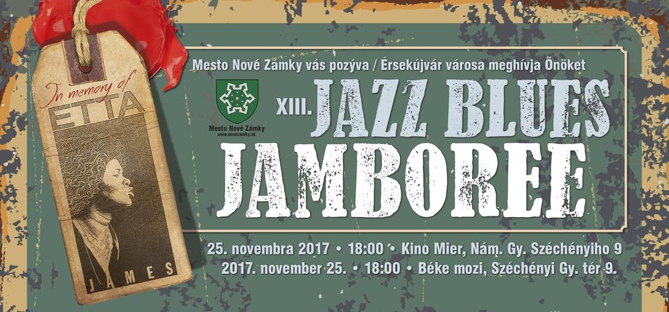 XIII. Jazz Blues Jamboree Érsekújvárban - részletes program