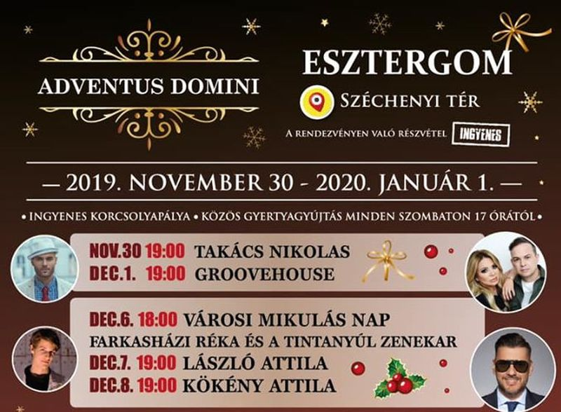 Adventus Domini - adventi zenés forgatag Esztergomban 2019-ben is