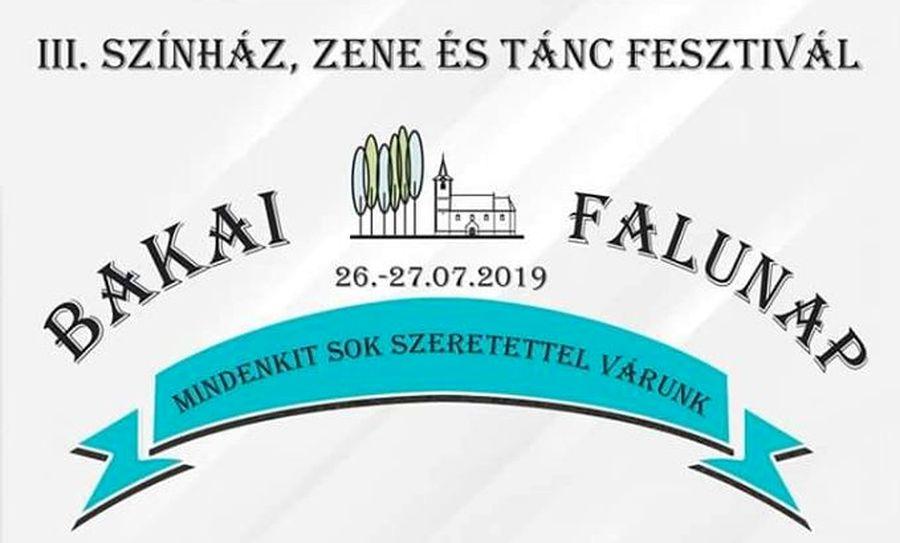 III. Színház, zene és tánc fesztivál Bakán