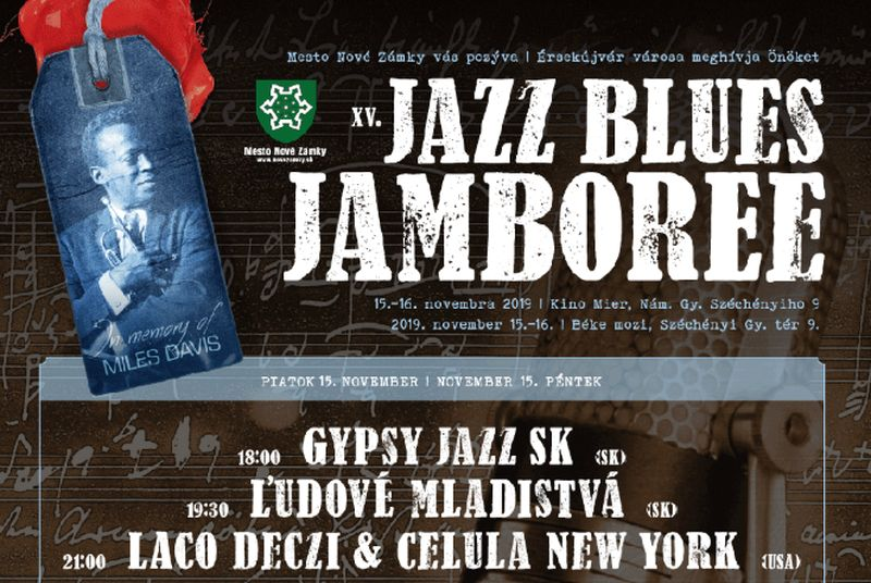 XV. Jazz Blues Jamboree Érsekújvárban - részletes program