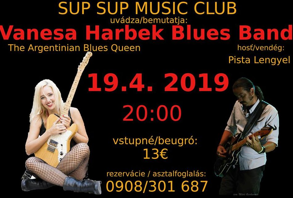 Vanesa Harbek Blues Band koncert Somorján