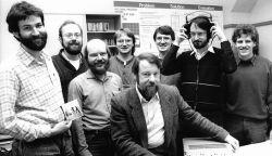 Az MP3 megalkotói: Harald Popp, Stefan Krägeloh, Hartmut Schott, Bernhard Grill, Heinz Gerhäuser, Ernst Eberlein, Karlheinz Brandenburg és Thomas Sporer