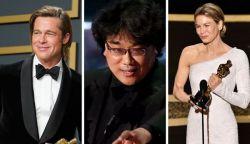 Történelmet írt egy dél-koreai film az Oscar-gálán -  Brad Pitt és Renée Zellweger is díjat kapott